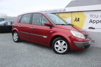 2005 RENAULT SCENIC 1.6 DYNAMIQUE 16V 5d 116 BHP PETROL RED £1190.00