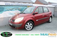 USED 2005 55 RENAULT SCENIC 1.6 DYNAMIQUE 16V 5d 116 BHP PETROL RED FULL SERVICE HISTORY