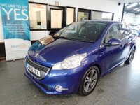 """USED 2012 12 PEUGEOT 208 1.6 ALLURE E-HDI 5d 92 BHP This £0 tax 208 is finished in Metallic Blue with Black cloth seats. It is fitted with Peugeot Sat Nav & Bluetooth,  privacy glass, auto lights, 16"""" Alloys, full size spare wheel, power steering, remote locking, electric windows and mirrors, air conditioning, cruise control, LED Daylights, Bluetooth, Aux & USB port and more. It  comes with a full service history, having been done @ 9657 miles by Peugeot  and then 5 times independently.The last time was in august 2018 at 52806 miles."""