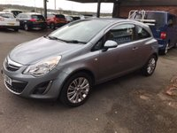 USED 2013 13 VAUXHALL CORSA 1.2 SE 3d 83 BHP ONLY 48K MILES