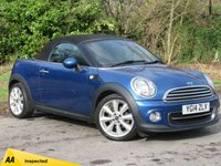 USED 2014 14 MINI ROADSTER 1.6 COOPER 2d 120 BHP FULL LEATHER INTERIOR, ALLOY WHEELS