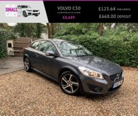 USED 2012 12 VOLVO C30 1.6 DRIVE SE S/S 3d 113 BHP 1 LADY OWNER FULL VOLVO SERVICE FREE TAX MASSIVE MPG BLUETOOTH