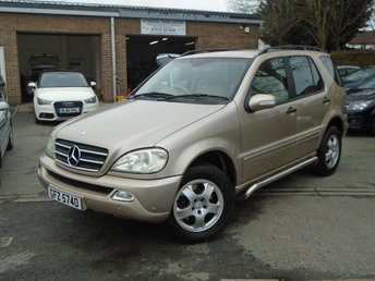 2002 MERCEDES-BENZ M CLASS 3.2 ML320 5d AUTO 215 BHP £2495.00