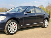 USED 2006 56 MERCEDES-BENZ S CLASS S500 5.5 V8 LWB LIMO AUTO 383 BHP 4 DR SALOON +F/MB/S/H+SUNROOF+18'' WHEELS+