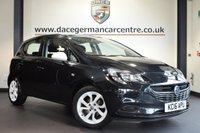 """USED 2016 16 VAUXHALL CORSA 1.2 STING 5DR 69 BHP  *NO ADMIN FEES* FINISHED IN STUNNING METALLIC BLACK WITH CLOTH UPHOLSTERY + SERVICE HISTORY + BLUETOOTH + CRUISE CONTROL + STING PACK  + USB PORT + ELECTRIC MIRRORS + MULTI FUNCTIONAL STEERING WHEEL + 16"""" ALLOY WHEELS"""