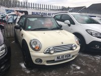 USED 2010 10 MINI CONVERTIBLE 1.6 One 2dr ** Bluetooth + Upgrade Alloys **