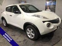 """USED 2012 12 NISSAN JUKE 1.6 VISIA 5d 117 BHP AUX Socket   :   Folding / Heated Mirrors   :   Air Conditioning   :   Front & Rear Electric Windows   :   16"""" Alloy Wheels   :   Service History"""