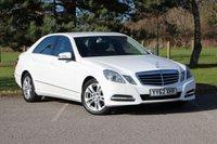 2012 MERCEDES-BENZ E CLASS 2.1 E220 CDI BLUEEFFICIENCY S/S AVANTGARDE 4d AUTO 170 BHP £10980.00