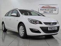 USED 2013 13 VAUXHALL ASTRA 1.2 EXCLUSIV CDTI ECOFLEX S/S 5d 95 BHP Great Fuel Economy, Low Road Tax, Just one former keeper and Full Service History
