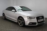 USED 2014 14 AUDI A5 3.0 TDI QUATTRO BLACK EDITION 2DR 245 BHP AUDI SERVICE HISTORY + HEATED LEATHER SEATS + SATELLITE NAVIGATION + PARKING SENSOR + BLUETOOTH + CRUISE CONTROL + MULTI FUNCTION WHEEL + CLIMATE CONTROL + DAB RADIO + XENON LIGHTS + PRIVACY GLASS + ELECTRIC WINDOWS + 19 INCH ALLOY WHEELS
