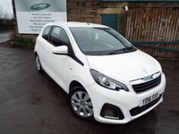 USED 2016 16 PEUGEOT 108 1.0 ACTIVE 3d 68 BHP One Owner Full Peugeot Service History