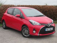 USED 2017 17 TOYOTA YARIS 1.3 VVT-I ICON 5d FULL TOYOTA SERVICE HSITORY * FULL LEATHER *SATELLITE NAVIGATION * BLUETOOTH * CRUISE CONTROL