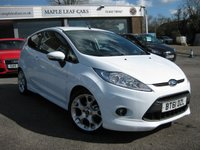 USED 2012 61 FORD FIESTA 1.6 ZETEC S 3d 118 BHP Air Conditioning Full Service History. USB port. Alloy wheels. Leather multi function steering wheel.