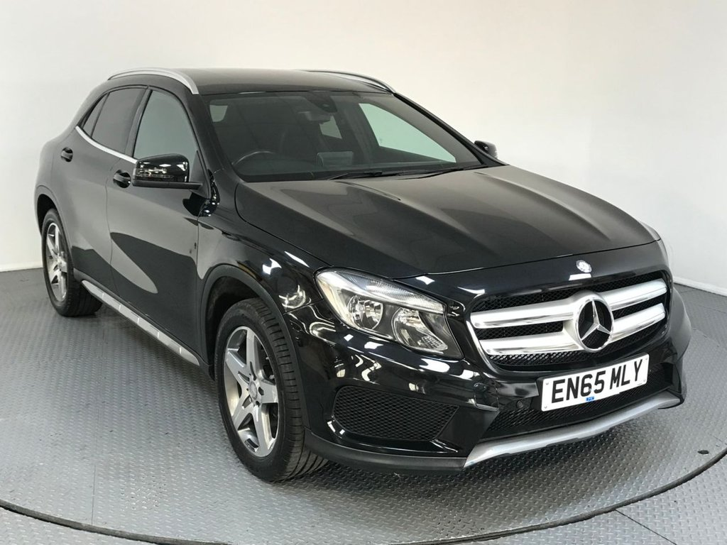 USED 2015 65 MERCEDES-BENZ GLA-CLASS 2.1 GLA 200 D AMG LINE 5d AUTO 134 BHP HISTORY - ONE OWNER - AIR CON - CRUISE - BLUETOOTH - CD PLAYER - PADDLE GEAR SHIFT - HALF LEATHER