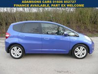 USED 2013 63 HONDA JAZZ 1.3 I-VTEC EX 5d AUTO 98 BHP Superb,Low Mileage,Automatic,Full Honda History,Great Spec