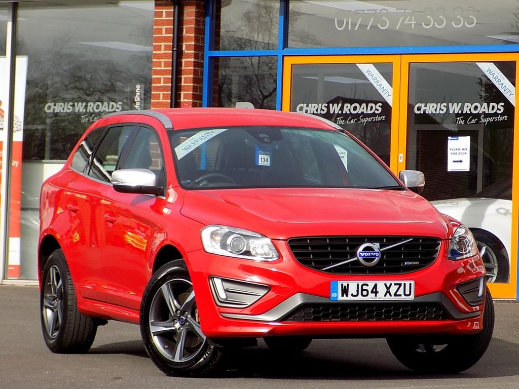 USED 2014 64 VOLVO XC60 2.0 D4 R Design Lux 5dr Geartronic **Leather + Bluetooth + 18s**