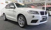 """USED 2012 12 BMW X3 2.0 XDRIVE20D M SPORT 5d AUTO 181 BHP **PRO NAV+19"""" ALLOYS+PRIVACY**"""