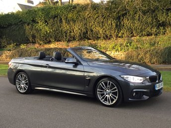 2016 BMW 4 SERIES 2.0 420D M SPORT AUTO 190BHP CONVERTIBLE. LOW MILES. BIG SPEC. £18890.00