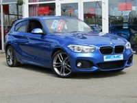 USED 2016 65 BMW 1 SERIES 2.0 118D M SPORT 3d 147 BHP STUNNING, 1 OWNER, £30 ROAD TAX, BMW 118D 2.0 M SPORT, 150 BHP, 3 DOOR. Finished in ESTORIL BLUE with contrasting part LEATHER trim. If you are looking for a small hatchback with that spacious feeland enjoy driving then look no further. Features include Sat Nav, Part Lerather, DAB, B/Tooth, Park sensors, Cruise and much more. Dealer serviced at 23450 miles, 39995 miles, and recently at 57914 miles on 13/2/2019. MOT due on 15/02/2020.