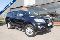 USED 2013 13 TOYOTA HI-LUX 3.0 INVINCIBLE 4X4 D-4D DCB 1d AUTO 169 BHP REAR ENTERTAINMENT, FULL LEATHER, CRUISE CONTROL, AUTOMATIC, REAR CANOPY COVER, REAR TOW BAR