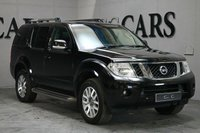 USED 2011 11 NISSAN PATHFINDER 2.5 TEKNA DCI 5d 188 BHP High Spec 7 Seat Pathfinder,  Powerful 2.5 Litre Diesel Engine with 4 Wheel Drive and Fantastic Off-Road & Towing Ability. Generously Equipped with Full Graphite Grey Leather Interior, Heated Electric Seats, Satellite Navigation, Bluetooth Connectivity, DAB Radio, 18 Inch Alloy Wheels, Front and Rear Park Distance Control with Reverse Camera, Factory Fitted Side Steps, Leather Multi Function Steering Wheel, Cruise Control, Towbar with Electrics, Electric Sunroof, Heated Electric Powerfold Mi
