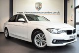 """USED 2016 65 BMW 3 SERIES 2.0 320D ED PLUS 4DR AUTO 161 BHP full bmw service history *NO ADMIN FEES* FINISHED IN STUNNING ALPINE WHITE WITH FULL DAKOTA LEATHER INTERIOR + FULL BMW SERVICE HISTORY + SATELLITE NAVIGATION + BLUETOOTH + HEATED SEATS + DAB RADIO + CRUISE CONTROL + RAIN SNESORS + AUTO AIR CON + PARKING SENSORS + 16"""" ALLOY WHEELS"""