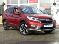 USED 2016 65 HONDA CR-V 1.6 I-DTEC EX 5d AUTO 158 BHP STUNNING, 1 OWNER, PAN ROOF, AUTO, HONDA CR-V 1.6 EX I-DTEC, 160 BHP. Finished in PASSION PEARL RED with contrasting full heated BLACK LEATHER. The CR-V is a 5 seater SUV that is robust, practical and packed with equipment. Features in this popular car include Full heated Leather, Sat Nav, DAB, Rear View Camera, Park sensors, Cruise, B/Tooth and much more.