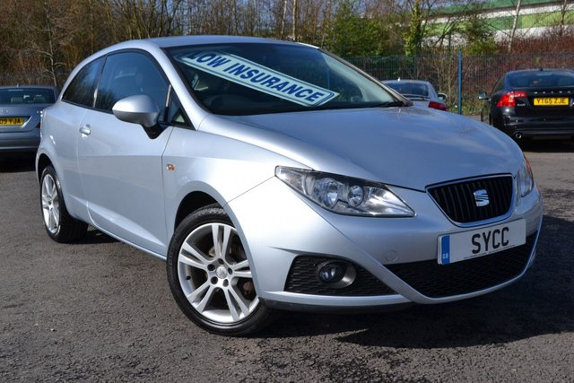 USED 2010 10 SEAT IBIZA 1.4 SPORT 3d 85 BHP 10 SERVICE STAMPS ~ 1 FORMER KEEPER ~ 2 KEYS ~ 6 MONTHS WARRANTY