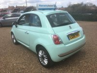 USED 2015 15 FIAT 500 1.2 LOUNGE 3d 69 BHP FULLY AA INSPECTED - FINANCE AVAILABLE