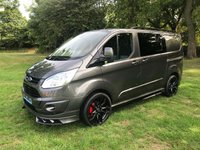 "2016 FORD TRANSIT CUSTOM 2.2 270 LIMITED 5d 125 BHP DBL CAB RS STYLING KIT 20"" ALLOYS £18995.00"