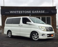 USED 2005 05 NISSAN ELGRAND 2.5 Highway Star 8 Seater LOW MILEAGE 8 SEATER, £255 ROAD TAX, ELECTRIC SLIDING DOOR, REAR CAMERA, FULLY UK REGISTERED