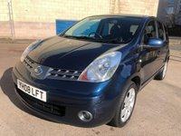 USED 2008 08 NISSAN NOTE 1.6 TEKNA 5d AUTO 109 BHP 2 PREVIOUS KEEPERS + HALF LEATHER TRIM + PRIVACY GLASS + SERVICE RECORD + MOT NOVEMBER 2019 +