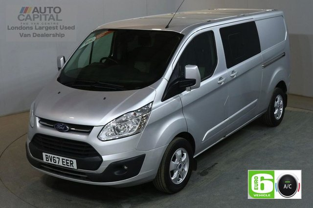 2017 67 FORD TRANSIT CUSTOM 2.0 310 LIMITED 130 BHP LWB 6 SEATER COMBI EURO 6 AIR CON VAN AIR CONDITIONING EURO 6 LTD