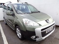 USED 2010 60 PEUGEOT PARTNER 1.6 TEPEE OUTDOOR HDI 5d 112 BHP £87 A MONTH SLIDING SIDE DOOR EX MOTABILITY FULL SERVICE  HISTORY NEW CLUTCH FITTED POPULAR SOUGHT AFTER DIESEL MPV