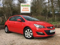 USED 2014 14 VAUXHALL ASTRA 1.7 DESIGN CDTI ECOFLEX S/S 5dr £0 Road Tax, 1 Owner, FVSH