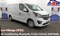 2017 VAUXHALL VIVARO 1.6 CDTi SPORTIVE 120 BHP, Low Mileage (19121) 3 Seats, Air Con, Bluetooth, Cruise Control, Rear Parking Sensors £12480.00