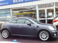 "USED 2013 63 MINI COUPE 1.6 COOPER 2DR 120BHP (Pepper 11 pack) ...CLIMATE CONTROL, 17"" ALLOYS, ADAPTIVE REAR SPOILER. IMMACULATE THROUGHOUT."