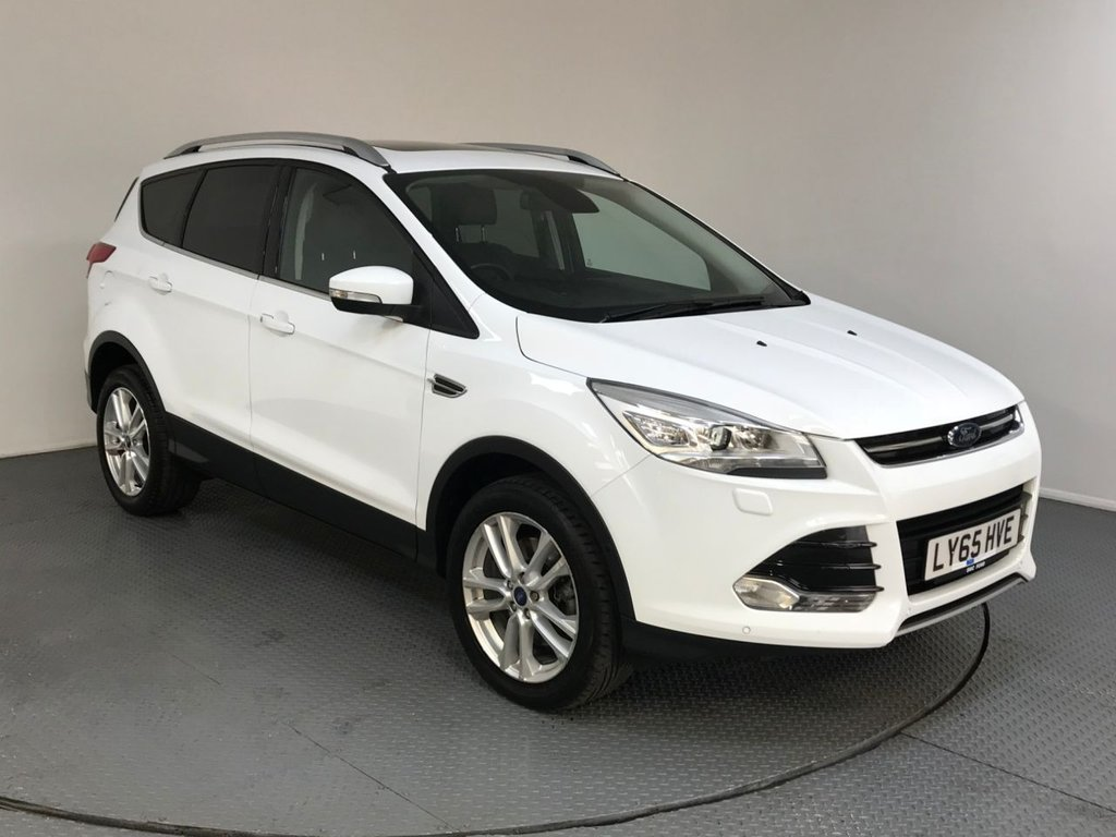 USED 2016 65 FORD KUGA 2.0 TITANIUM X TDCI 5d AUTO 177 BHP FULL FORD HISTORY - ONE OWNER - PARKING SENSORS - REAR CAMERA - BLUETOOTH - LEATHER SEATS - DAB