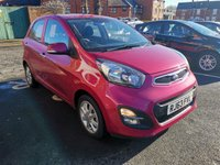 USED 2014 63 KIA PICANTO 1.2 2 5d AUTO 84 BHP EXCELLENT FUEL ECONOMY,CHEAP TO RUN AND LOW CO2 EMISSIONS, SPECIFICATION INCLUDES AIR CONDITIONING AND ALLOY WHEELS