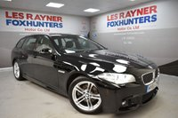 USED 2015 65 BMW 5 SERIES 2.0 520D M SPORT TOURING 5d 188 BHP Xenon Headlights, Full Leather, Sat Nav, Bluetooth, Cruise control