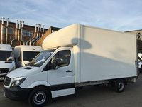 USED 2014 14 MERCEDES-BENZ SPRINTER 2.1 313CDI LWB LUTON BOX. EXTRA LARGE TAIL-LIFT. AIRCON. 60K. LOW 60K MILES. SPECIAL LARGE LIFT. AIRCON. FINANCE. PX