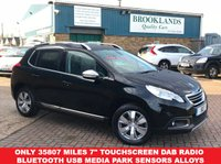 "USED 2014 64 PEUGEOT 2008 1.2 ALLURE 5 Door Nera Black Metallic 82 BHP Sold By Us Once Before  Only 35807 miles 7"" Touchscreen DAB Radio Bluetooth USB Media Park Sensors Alloys Climate"