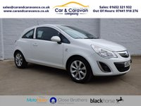 USED 2013 62 VAUXHALL CORSA 1.4 ACTIVE AC 3d 98 BHP Full Service History Air Con Buy Now, Pay Later Finance!