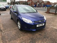 USED 2014 14 FORD FOCUS 1.6 EDGE TDCI 115 5d 114 BHP FULL SERVICE HISTORY-£20 TAX-1 FORMER KEEPER-DIESEL-ALLOYS-A/C
