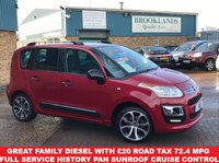 USED 2016 16 CITROEN C3 PICASSO 1.6 BLUEHDI PLATINUM PICASSO 5 Door Ruby Red Met. 98 BHP Great Family Diesel with £20 Road Tax 72.4 MPG Full Service History Pan Sunroof Cruise Control