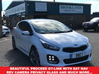 USED 2016 16 KIA CEED 1.6 PRO CEED CRDI GT-LINE ISG Fusion White Kia Warranty April 2023 134 BHP Beautiful ProCeed GT-Line with Sat Nav Rev Camera Privacy Glass and much more....