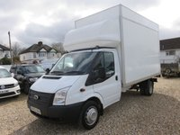 2013 FORD TRANSIT 2.2 350 DRW EXTRA HIGH LUTON WITH TAIL LIFT 155 BHP FULL SERVICE HISTORY 18,257 MILES  £13995.00