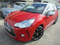 USED 2012 CITROEN DS3 1.6 DSTYLE PLUS 3d 120 BHP Stylish Looking Hatch, Great Value, No Deposit Finance Available