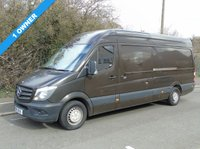 USED 2015 15 MERCEDES-BENZ SPRINTER 313 2.1CDI 129 BHP LWB HIGH ROOF PANEL VAN MEDIA+ 1 OWNER+ CHOICE OF TWO+