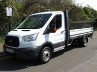 USED 2015 15 FORD TRANSIT T350 2.2TDCI 124 BHP LWB DROPSIDE TRUCK WITH TAILLIFT +500KG TAILLIFT+ 1 OWNER+